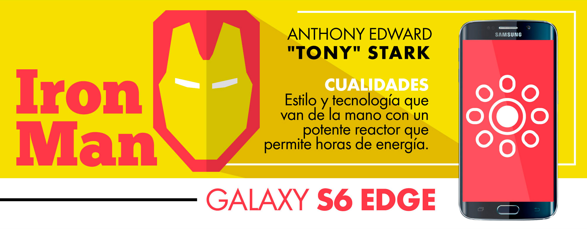 IRON MAS- GALAXY S6 EDGE- GEEK-MEXICO
